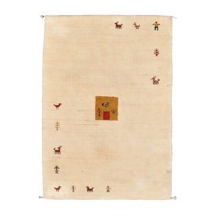 Indian Lambs Wool Gabbeh Rug - 5′ × 7′10″