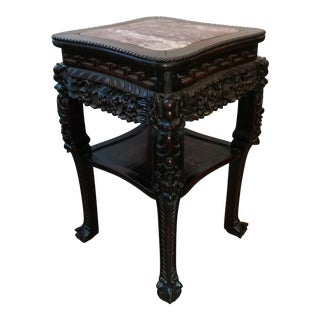 1880s Chinese Marble Top Stand