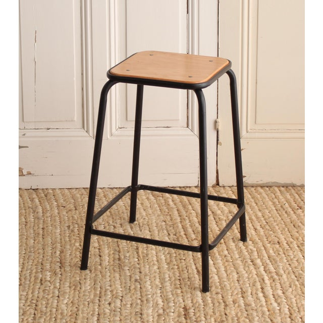 Vintage French Schoolhouse Stool - A Pair - Image 4 of 4
