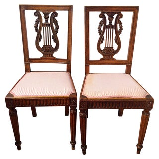Antique 19th C. Continental Side Chairs - A Pair