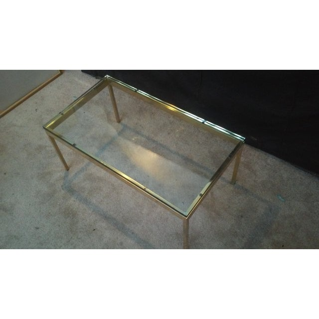 Ward Bennett Brass & Glass Coffee Table - Image 5 of 5