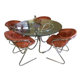 Gastonia Rinaldi Chrome Dining Set
