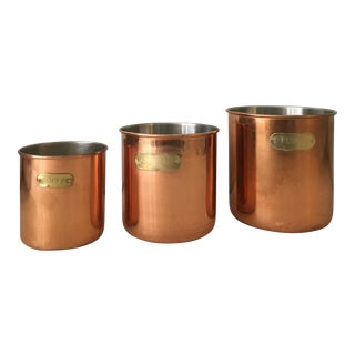Copper Jars - Set of 3