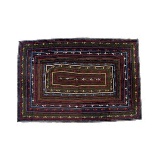 Vintage Reversible Hand-Stitched Pakistani Kantha Throw Blanket