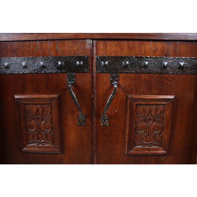 Antique German Arts & Crafts Style Cabinet - Image 5 of 7