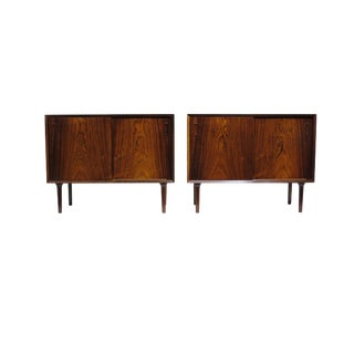 Matching Pair of Midcentury Danish Rosewood Cabinets