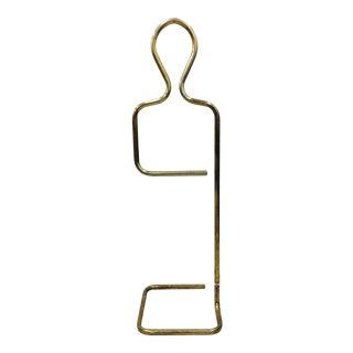 Mid-Century Modern Tubular Brass Clothing Rack