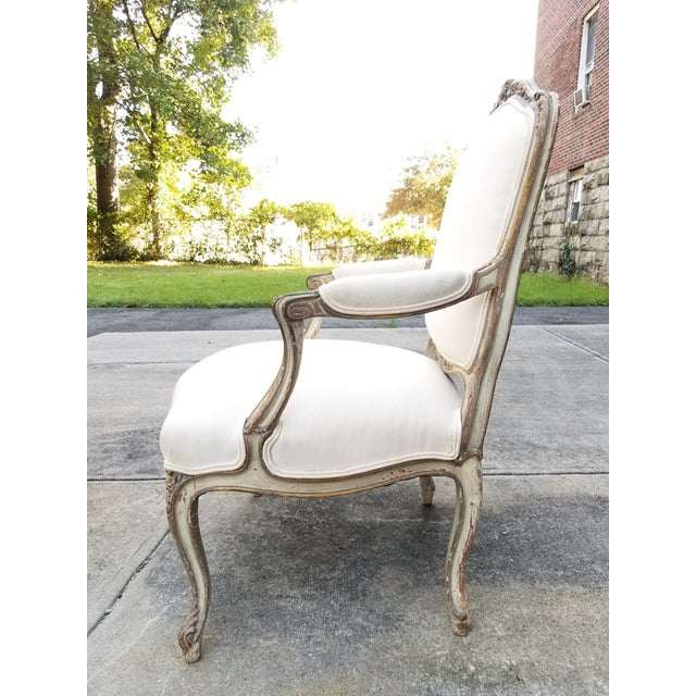 Vintage French Louis XV Style Armchairs - a Pair - Image 3 of 11