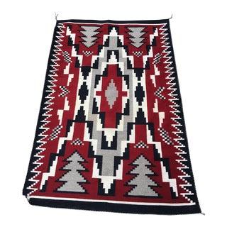 Navajo Ganado Red Rug- 3′2″ × 4′11″