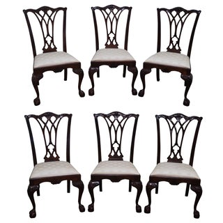 Drexel Chippendale Mahogany Dining Chairs - Set of