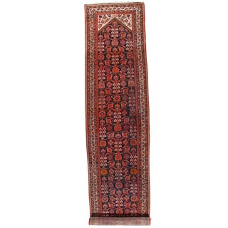 Antique Persian Malayer Hand-Knotted Rug - 3′4″ × 18′10″