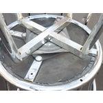 Image of Chrome & Black Vinyl Bar Stools - Set of 4