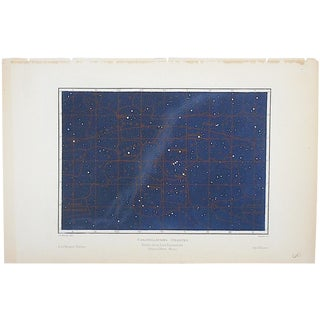 Antique Astronomy-Constellations Lithograph