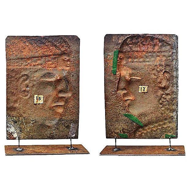 Image of Vintage Peruvian Copper Reliefs - A Pair
