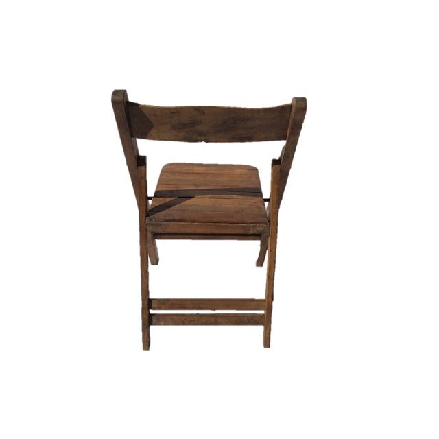 Image of Vintage Wooden Folding Chair