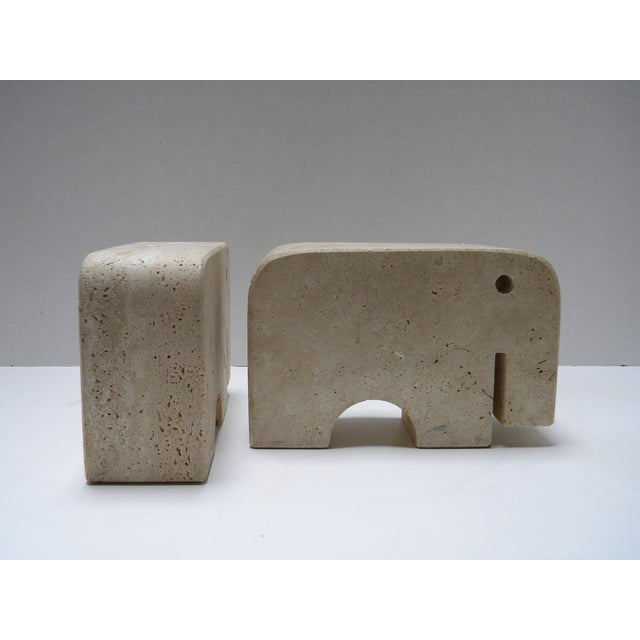 Anti Och Travertine : Abstract travertine elephant bookends a pair chairish