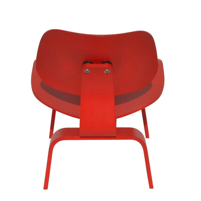 Red LCW Molded Lounge Chair - Image 5 of 6