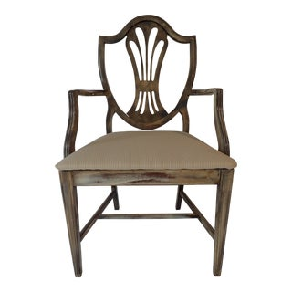Duncan Phyfe Style Side Chair Distressed Decor Finish 38.5H x 23D x 24W