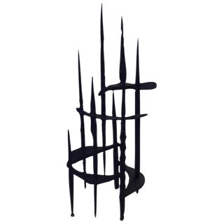 Brutalist Wrought Iron Sculpture by David Palombo
