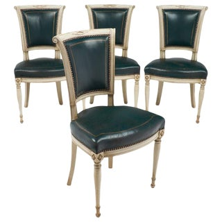 Directoire Style French Antique Side Chairs - Set of 4