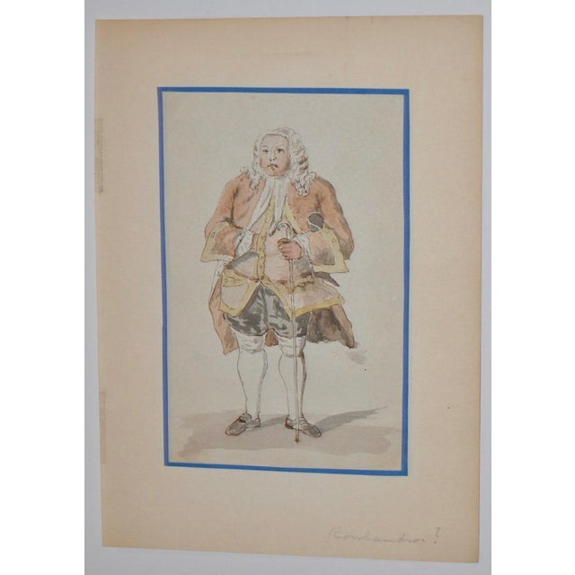 19th Century Pen, Ink & Watercolor Illustration in the School of Rowlandson - Image 4 of 4