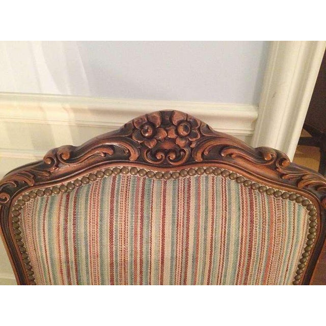 Pair of French Walnut Upholstered Armchairs - Image 7 of 11