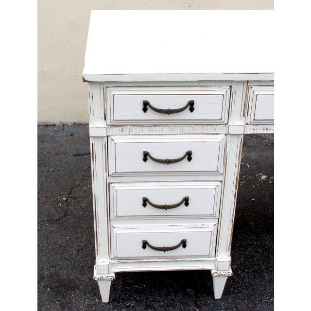 Mid-Century White Desk - Image 5 of 7