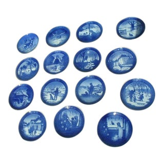Royal Copenhagen Blue & White Collector's Plates - Set of 15