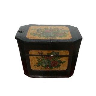 Oriental Rustic Rectangular Wood Box Bucket