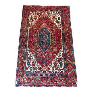 Vintage Shabby Chic Persian Rug - 3′4″ × 5′2″