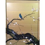 Image of Asian Hand-Painted Screen