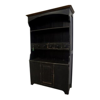 Black Paint Amish Cupboard