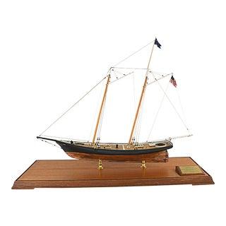 Vintage Schooner Yacht Model Ship