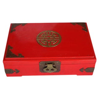 Chinoiserie Red Jewelry Box