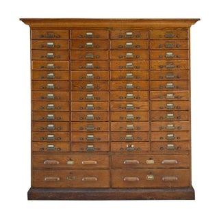 American Oak Multi-Drawer File Cabinet