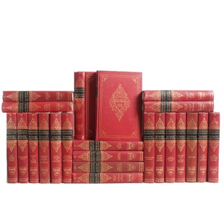 Red Harvard Classic Books - Set of 23