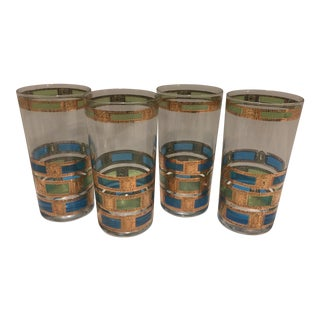 Vintage Culver Mid-Century Highball Glasses-Set of 4