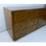 Image of Drexel Campaign Walnut & Brass Dresser