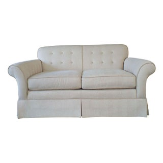 Tufted Button Back Tailored Kravet Loveseat