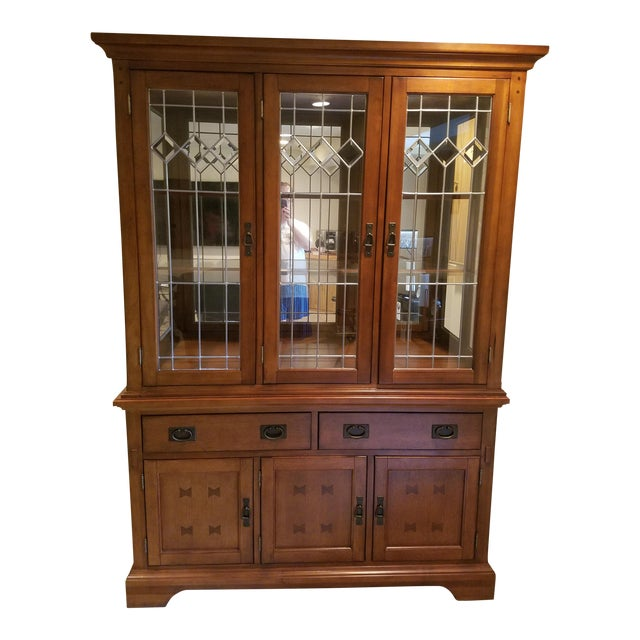 Wooden China Cabinet - Image 1 of 11