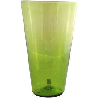 Tall Blenko Glass Vase