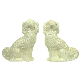 Vintage Staffordshire Mantle Dogs - A Pair