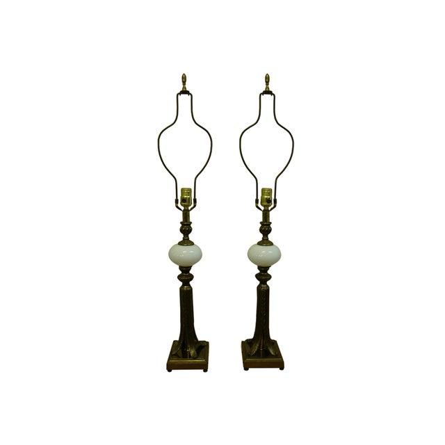 Hollywood Regency Lamps - Pair - Image 1 of 8