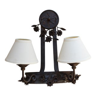 Two-Light Floral Wall Fixture