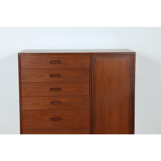 Image of Mid-Century Walnut Highboy Dresser