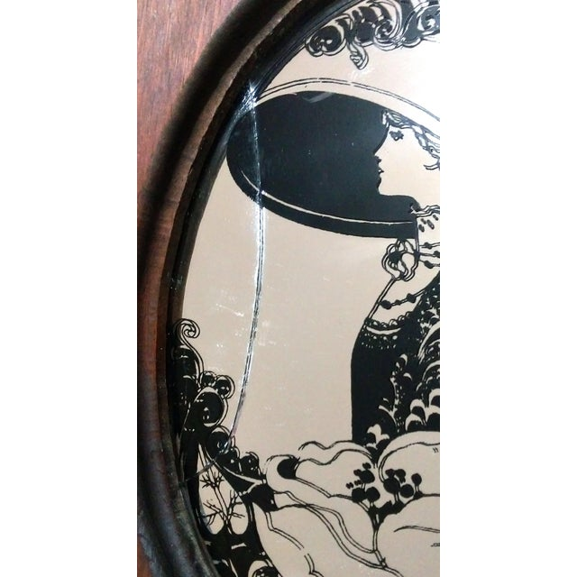 "Antique ""Fair Lady"" Mirrored Medicine Cabinet - Image 7 of 8"