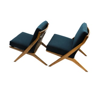 Pair Folke Ohlsson Dux Scissor Lounge Chair