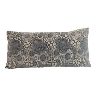 Japanese vintage hand-blocked Chrysanthemum Decorative bolster pillow