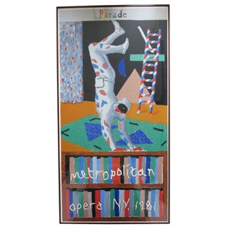 David Hockney Parade Large Colorful Serigraph