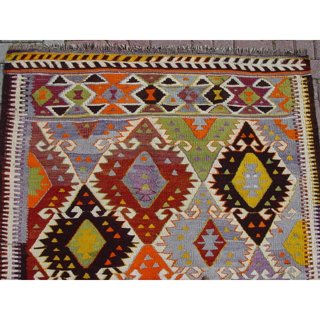 "Vintage Handwoven Turkish Kilim Rug - 4'11"" x 8'6"" - Image 5 of 10"